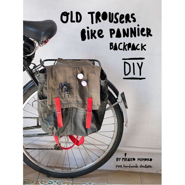 Tutorial: Upcycled jeans bike pannier backpack
