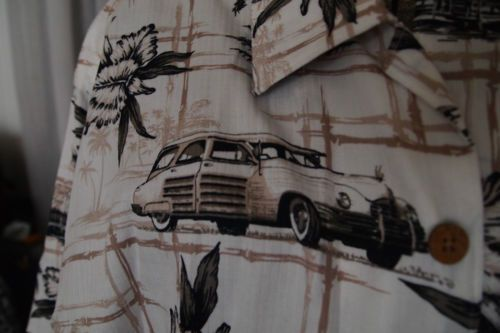 "Palm Island Clothing Co. ~M~ Cotton/Rayon ""Woodie"" Tropical Shirt"