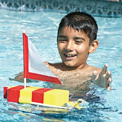 Get Kids Juiced About Crafting With Recyclables By Turning An Empty OJ Carton Into A Working Paddle Wheel Powered Sailboat