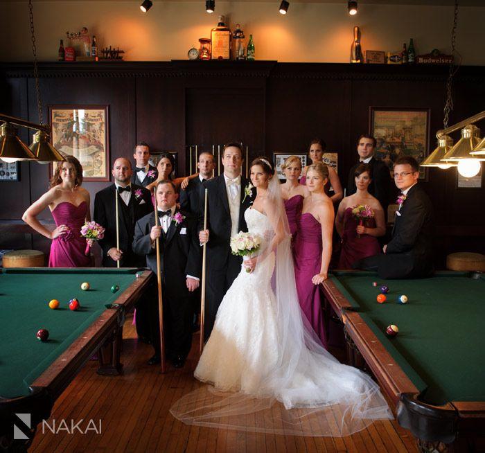 Creative Pool Hall Wedding Photo By Chicago Wedding