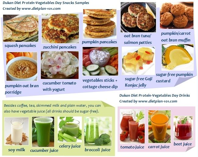 Dukan Diet Protein-Vegetables Day Snacks Samples