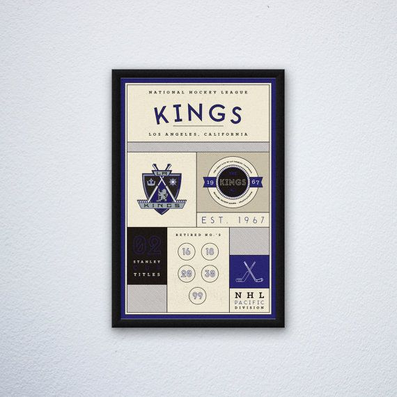 Los Angeles Kings Stats Print by DesignsByEJB on Etsy