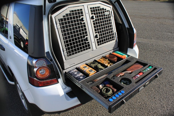 Transk9 B25 Dog Transit Box In Freelander 2 With Optional