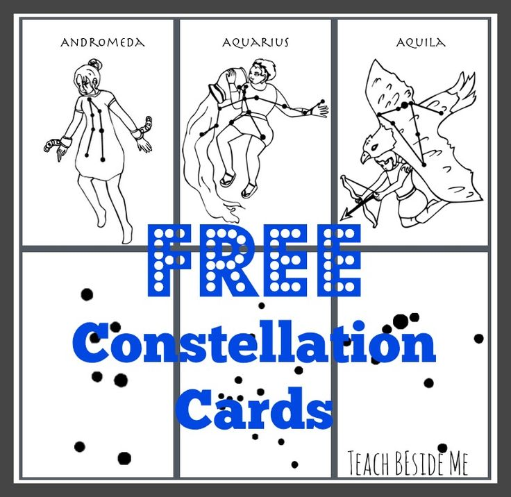Free constellation printouts and good reading material for star lesson plan