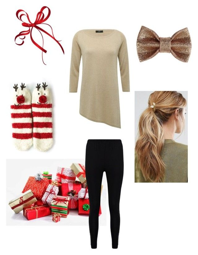 """My Christmas Outfit"" by rainbowfra on Polyvore featuring Patrizia Pepe, M&Co, Boohoo and Kitsch"