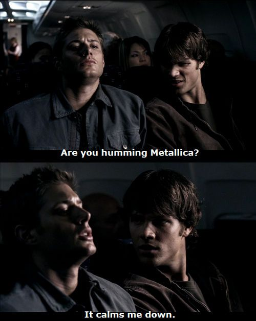 Dean's coping mechanisms. I love Supernatural.