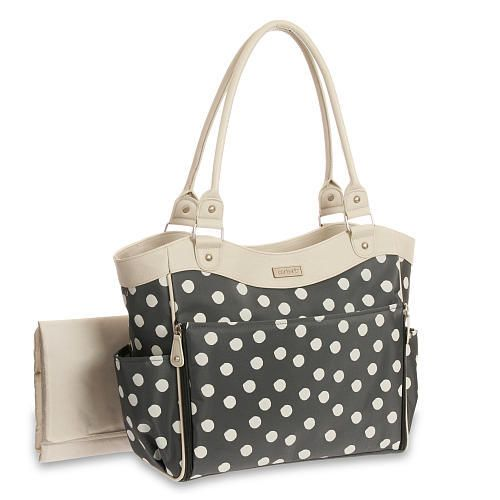 Carters Six Pocket Tote Diaper Bag GREY from Carters - The Bump Baby Registry Catalog