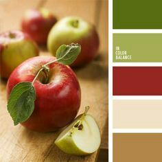 Green/red/tan color palette