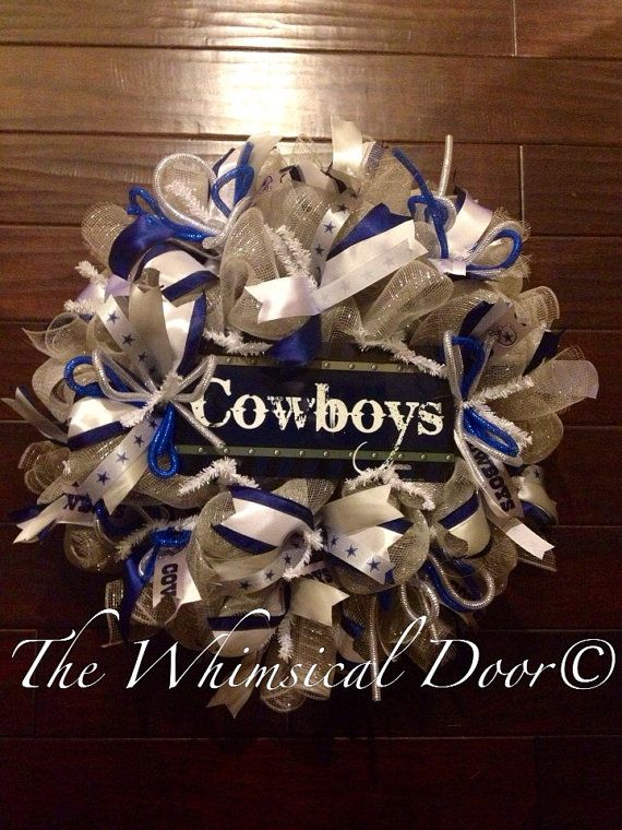 Dallas Cowboys Football NFL Wreath Americas by TheWhimsicalDoor, $60.00