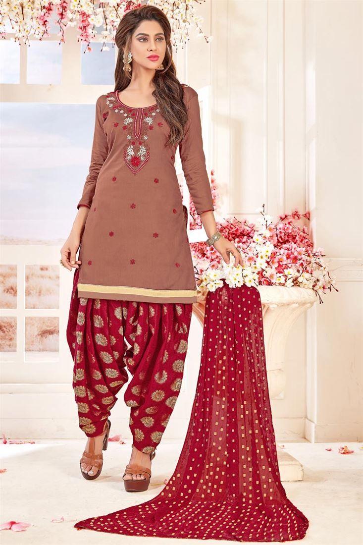 New Patiala Style Latest Punjabi Suit Designs 2019 For Women