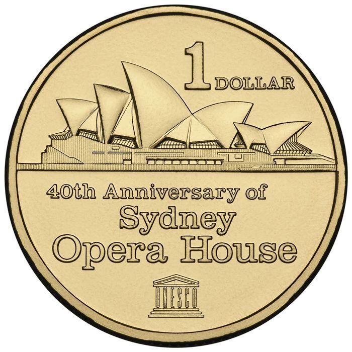 Australia 2013 $1 40th Anniversary of Sydney Opera House UNC