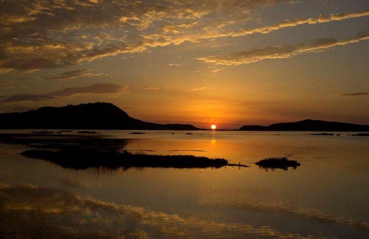Sunset over Gialova lagoon ..Messinia-Greece