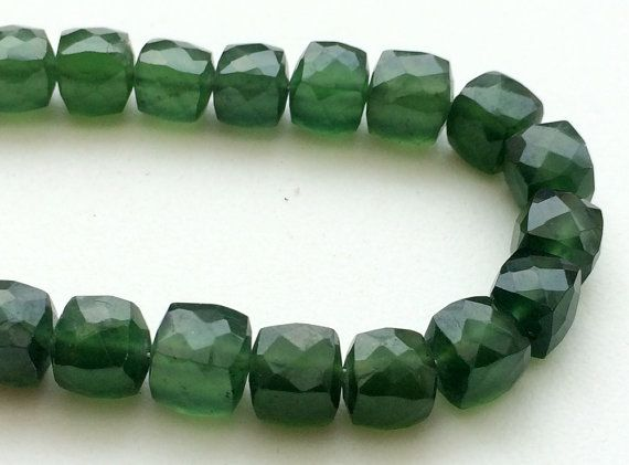 Russian Serpentine Beads Serpentine Faceted Box by gemsforjewels