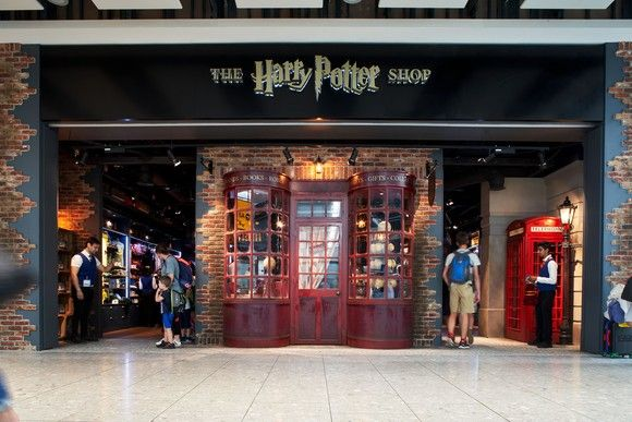 New 1000 Sq Ft Harry Potter Shop Opens At Heathrow Terminal 5 Departure Lounge Harry Potter Shop Harry Potter Store Heathrow