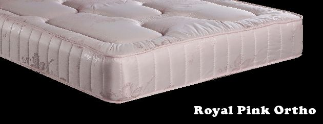 3ft x 6ft6 Marissa Pocket Mattress - £229.95 - The mattress is deep and plush with an open coil ortho spring unit.  It is a firm (but not hard) and supportive mattress which is well padded on both sides with deep layers of upholstery and then covered in a stylish pink damask fabric.