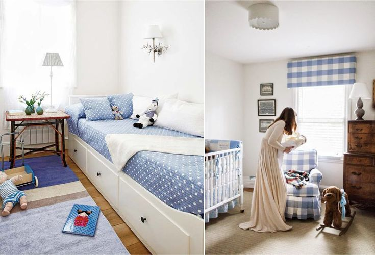Голубые акценты в интерье детской комнаты