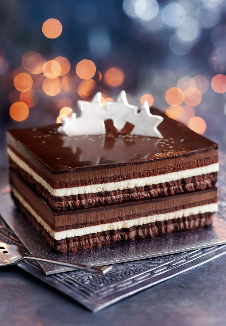 Chocolate Opera Dessert Mark and Spencer Christmas Cake link is dead but picture is divine.