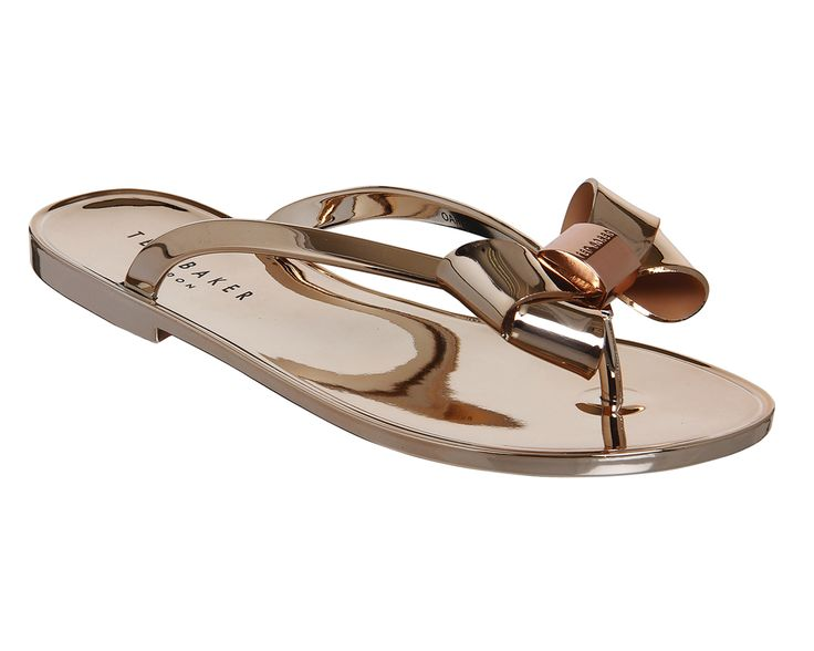 Buy Rose Gold Exclusive Ted Baker Ettiea Flip Flops from OFFICE.co.uk.