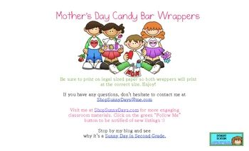Day Candy Bar Wrapper | Mother's day | Pinterest | Candy Bar Wrappers ...
