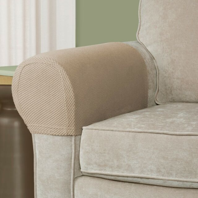 Armrest Covers Stretchy 2 Piece Set Chair Or Sofa Arm Protectors