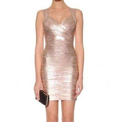 gold bandage kleid