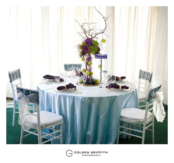 New Orleans inspired tables.. Thanks Lauren!