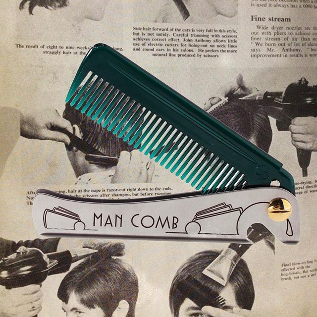 The NEW Special Edition on sale now! Www.wearedaft.com #mancomb #specialedition #man #comb #mensfashion  #mensstyle #style #beardedman #beard #moustache #hair #comb #foldingcomb #flipcomb #rockabilly #rockers #vintage #deco #hairdresser