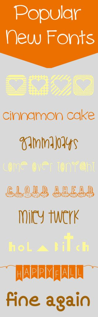 Popular New Fonts | Dreamsicle Sisters  ~~ {9 free fonts w/ links}