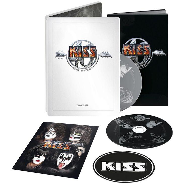 """L'album dei #Kiss intitolato """"Kiss 40 Years (Decades Of Decibles)"""" su doppio CD."""
