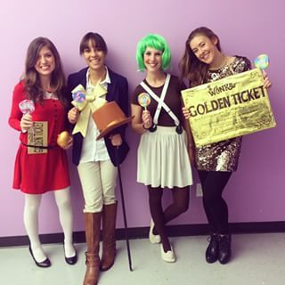 These awesome Wonkaphiles. | 28 Office Costumes That Are Ruling Halloween