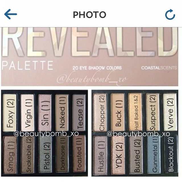 Coastal Scents Revealed Smoky palette is a dupe for Urban Decay Naked smoky