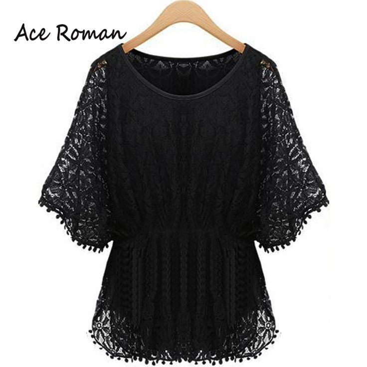 Find More Blouses & Shirts Information about Summer Elegant Women Lace…