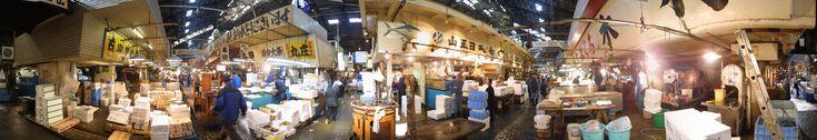 Inside Tsukiji Fish Market, Tokyo
