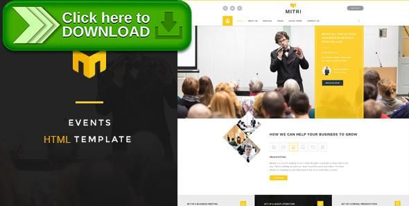 [ThemeForest]Free nulled download Mitri Events - Events & Conference HTML Template from http://zippyfile.download/f.php?id=21791 Tags: booking, conference, event management, exhibition, fair, html, listing, multiple events, registration, tickets