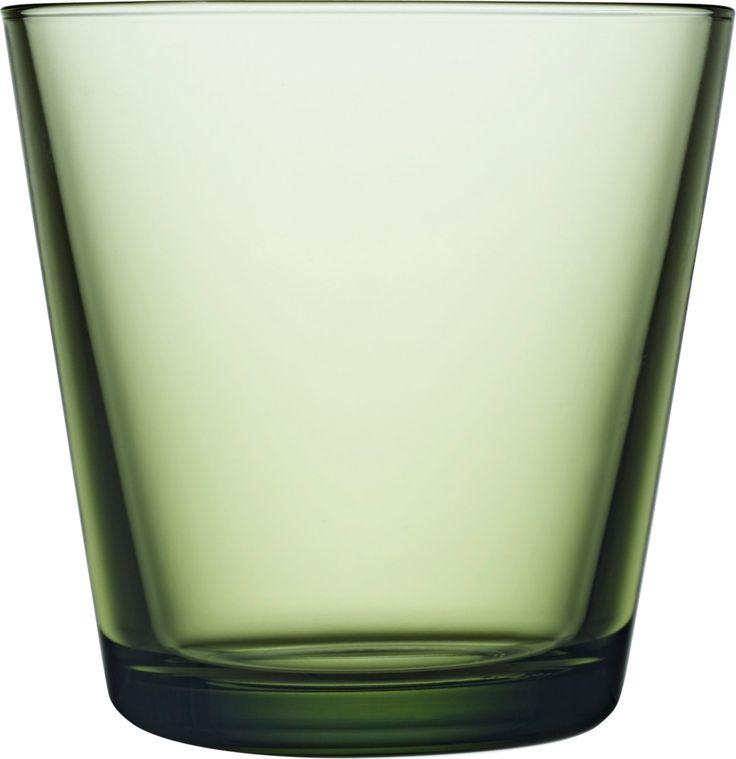 Iittala - Kartio Glass 21 cl forest green 2 pcs - Iittala.com