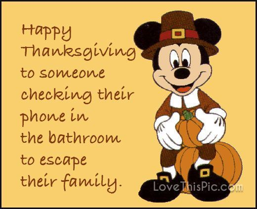 Mickey Mouse gives us one Disney Happy Thanksgiving Humor