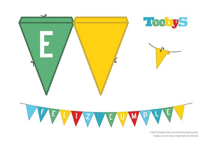 "Banderín ""Cumple"". #FelizCumple #Toobys #Cumpleaños #KitCumpleaños #FiestasInfantiles"