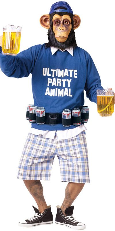 Ultimate Party Animal Hilarious Mens Stag Student Frat Party Fancy Dress Costume | eBay