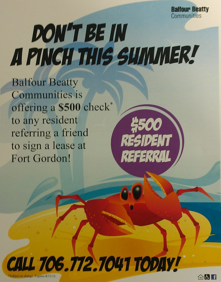 summer funds summer fun residents refer a friend to live in balfour beatty
