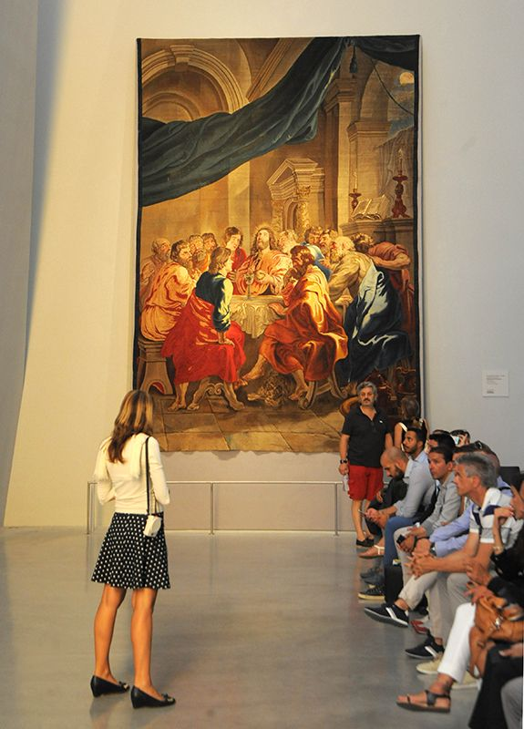 The Institution of Eucharist by Peter Paul Rubens in Holy See Pavilion at Expo Milan 2015 #raiexpo #expo2015 #italy #milan #worldsfair #vatican #pavilion #holysee #rubens #tapestry #art