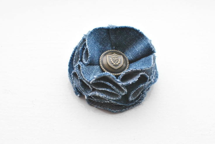 denim flower tutorial from old jeans @quintonwench