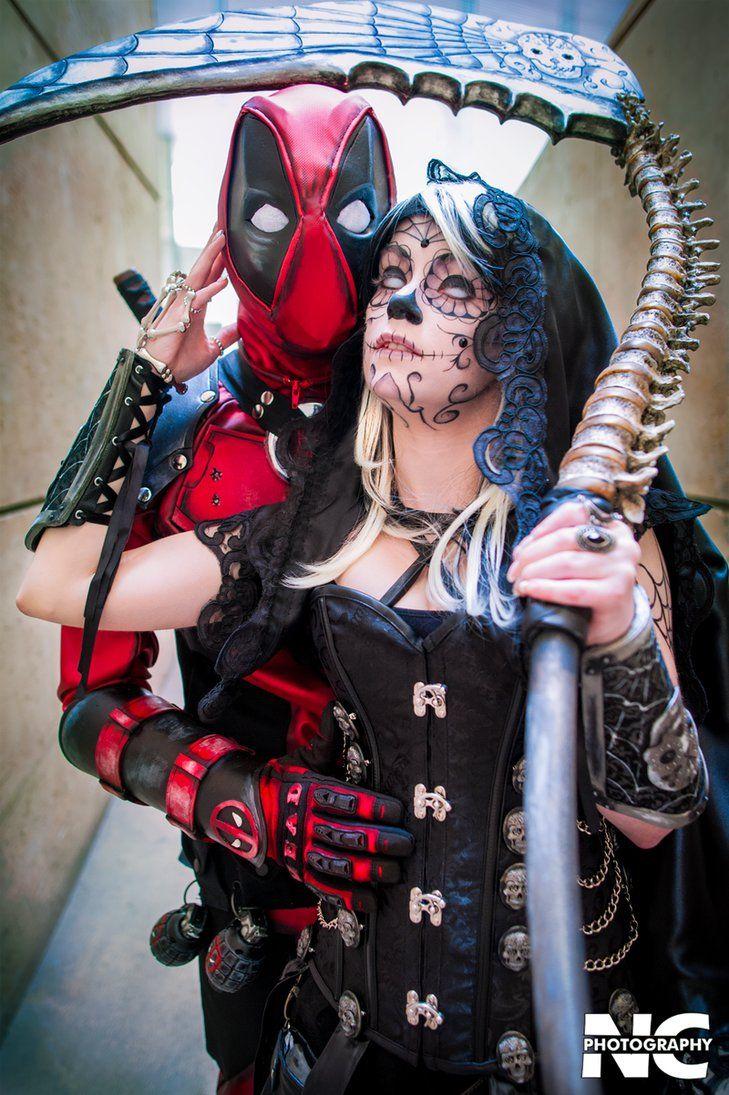 Marvel Deadpool and Death by neekocosplay