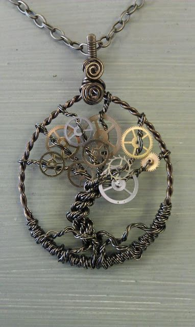 Recycled parts necklace,made from bits and bobs literally , but its really pretty despite the lack of expense