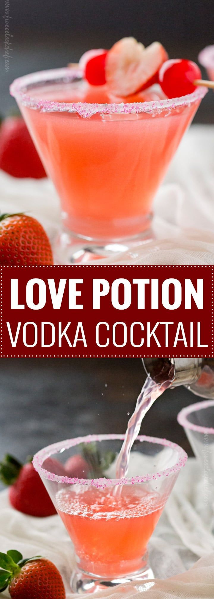 Love Potion Vodka Cocktail | The best drink for Valentine's Day, this love potion cocktail is made with just 3 ingredients, vodka, peach schnapps, and grapefruit juice. A must try.