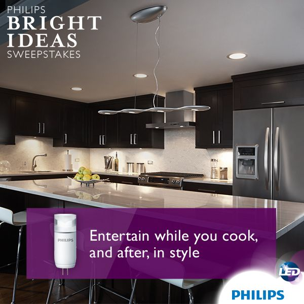 Functional During Food Prep, LED Bulbs Used In Under Cabinet Lighting Can  Create Mood Lighting After The Cooking Is Done To Continue The Entertaining  ...