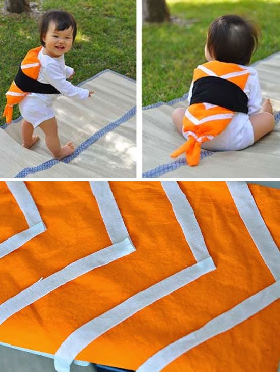 Easy Halloween DIY Sushi Costume | Click for 30 DIY Halloween Costumes for Kids to Make | DIY Halloween Costumes for Toddlers