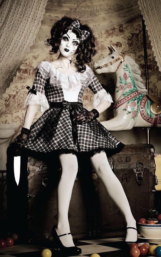 NEW 2015 Creepy Pretty Porcelain Doll Female halloween costume Scary 85511 #LegAvenue #Dress