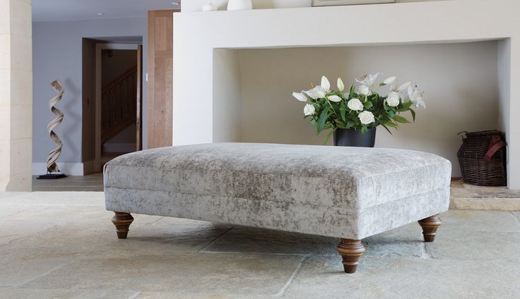 Galloway Large Footstool from Darlings of Chelsea