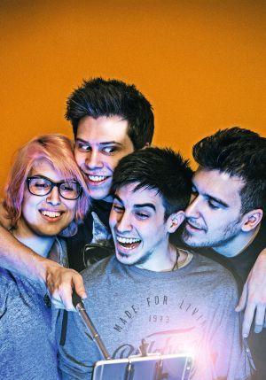 De izquierda a derecha, los 'youtubers' YellowMellow, El Rubius, Alexby y…