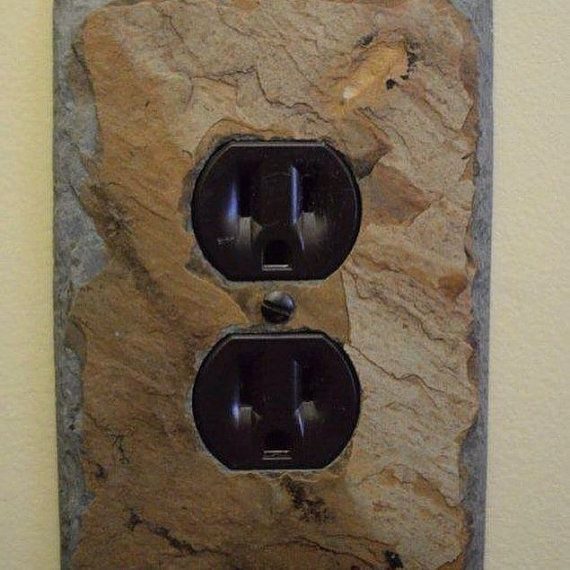 decorative single slate outlet cover by on etsy